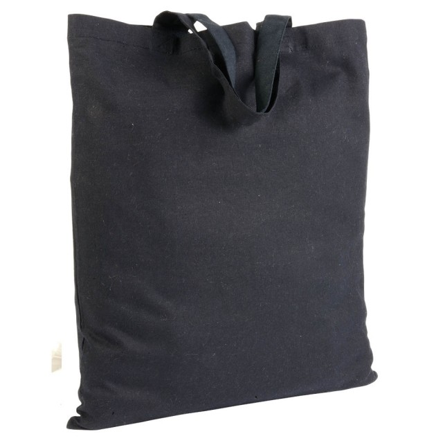 Shopper in cotone medio (135 g/m2), manici corti