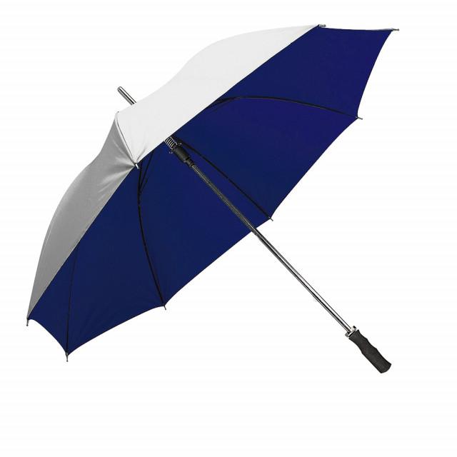 Ombrello Golf automatico, fusto e puntale metallici, manico dritto in materiale gommato