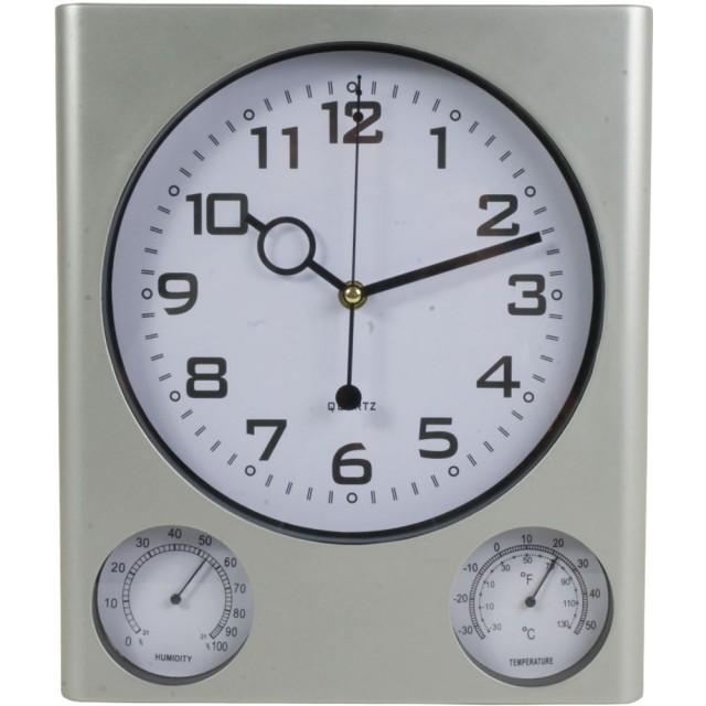 Orologio da parete in plastica con igrometro e termometro (gradi Centigradi e Fahrenheit)