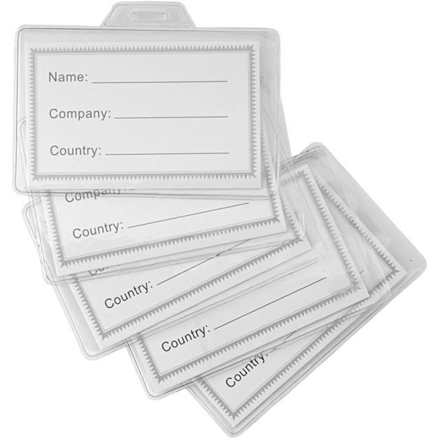 Porta-badge, in plastica trasparente