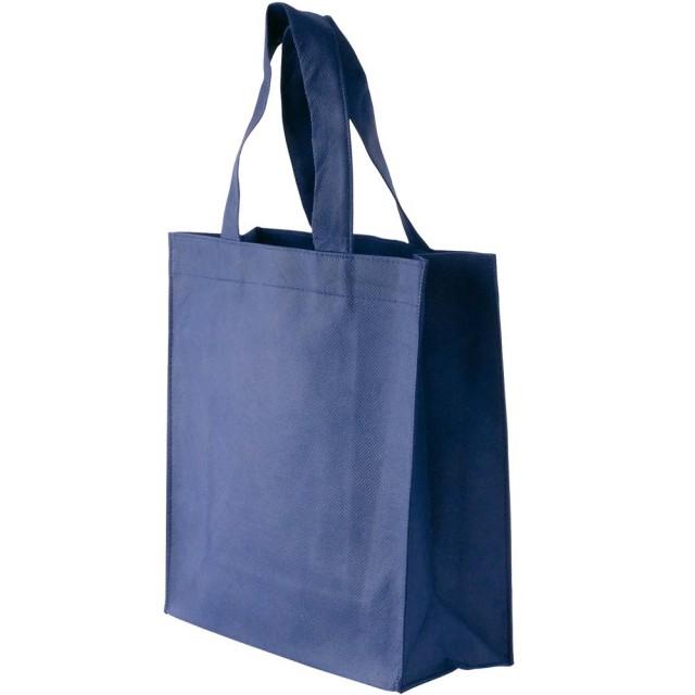 Mini Shopper in TNT cucito (80 g/m2), manici corti e soffietto