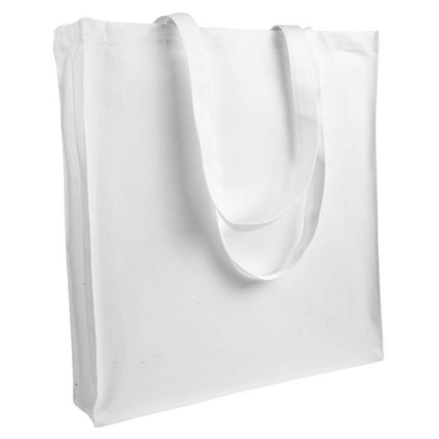 Shopper Canvas molto pesante (280gr/m2), manici lunghi e soffietto