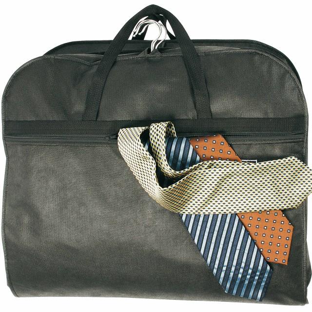 Porta-abiti da viaggio in TNT 80 g/m2, con scomparto esterno e finestrella identificazione