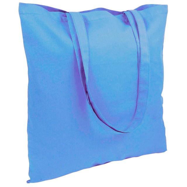 Shopper tinta unita in cotone (220 g/m2), manici lunghi