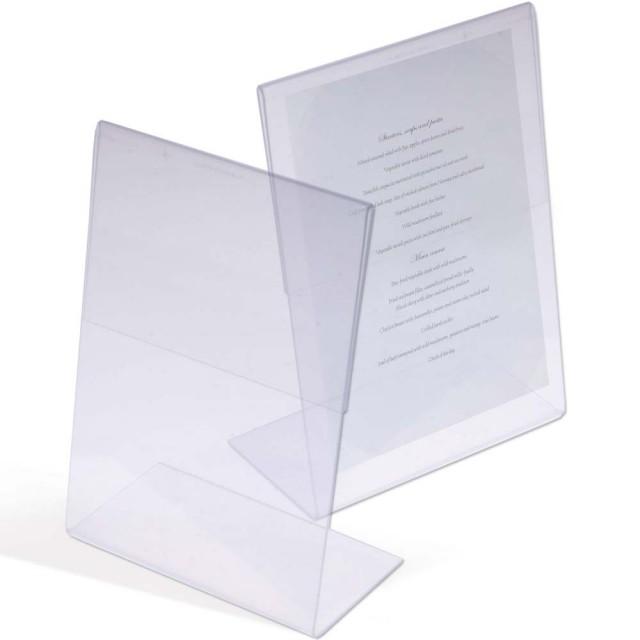 Espositore da tavolo, in plastica (porta-fotografia/menu)