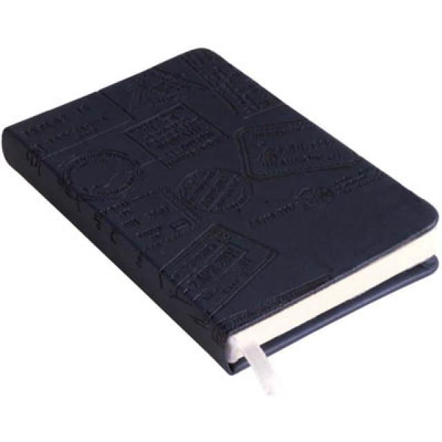 Quaderno con chiusura elastico, con tasca interna portafoglietti (96 pg.)