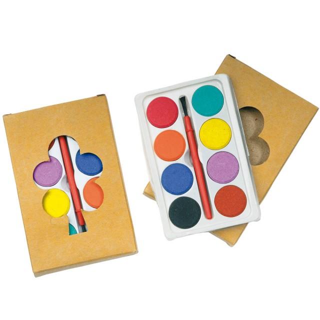 Set 8 acquarelli colorati in box