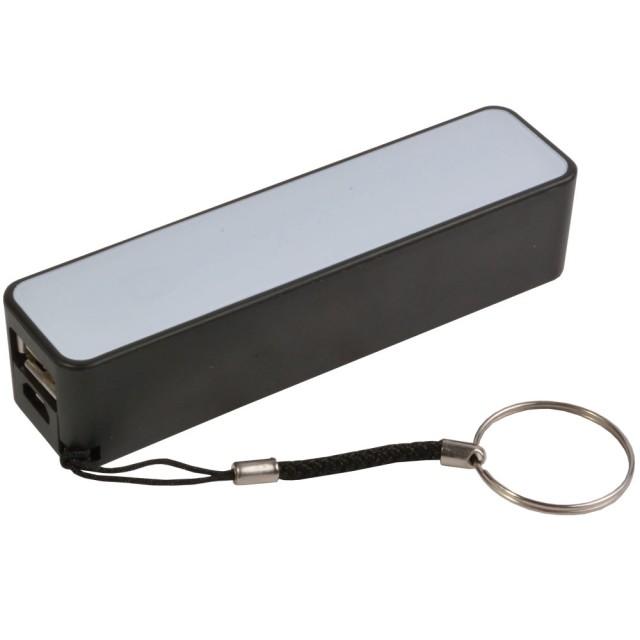 Power Bank (2200 mAh 5V/1A), con cordino e cavo micro USB