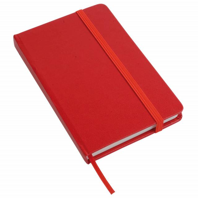 Quaderno con chiusura c/elastico e fogli senza righe