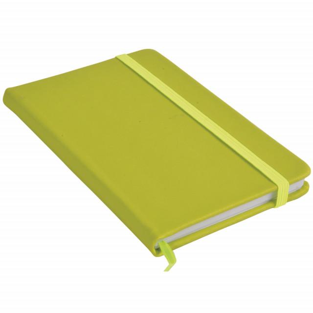 Quaderno a quadretti con elastico in PU gommato (80 pg.)