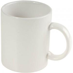 Tazza bianca in ceramica (box) (0,32 L)