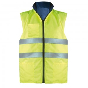Gilet reversibile interno in tessuto fluorescente EN471.