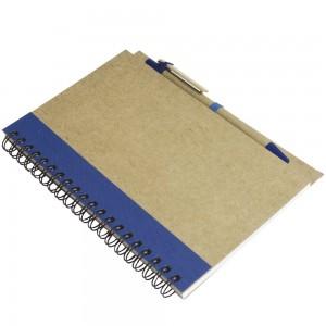 Quaderno in carta riciclata con penna