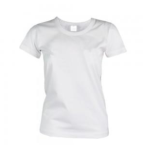 T-Shirt Bianca 100 % Cotone pettinato (145 g/m2), per Donna