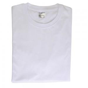 T-Shirt Bianca 100 % Cotone pettinato (145 g/m2), per Bambino