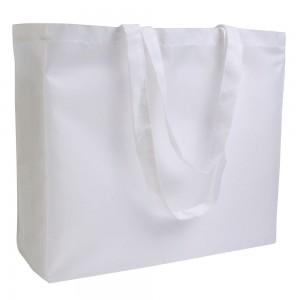 Shopper in Polyester 420 D, (adatto per stampa in sublimatica) manici lunghi e soffietto