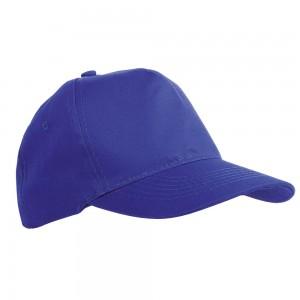 Cappellino in poliestere, 5 pannelli. Regolazione velcro
