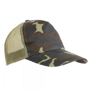 Cappellino mimetico con calotta a rete (5 pannelli)