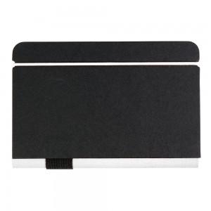 Quaderno con chiusura elastica e profili colorati con tasca interna portafoglietti (100 pg)