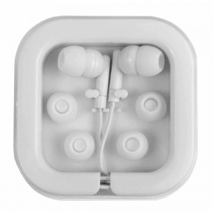 Auricolari stereo in ear con scatola di plastica