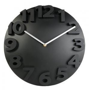 Orologio da muro rotondo, con numeri in 3D