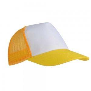 Cappellino con calotta a rete