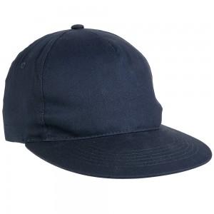 Cappellino baseball in cotone pesante con visiera dritta