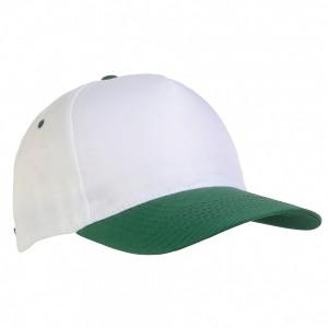 Cappellino in poliestere, 5 pannelli e regolazione in velcro