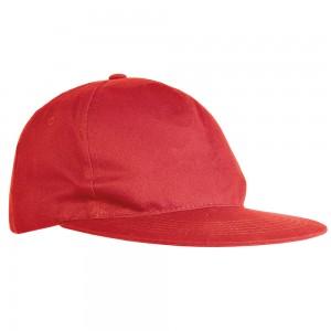 Cappellino in poliestere, 5 pannelli, visiera dritta