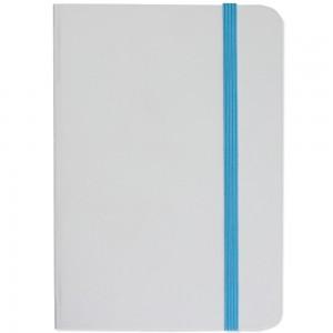 Quaderno bianco con elastico colorato, fogli a righe (80 pag.)