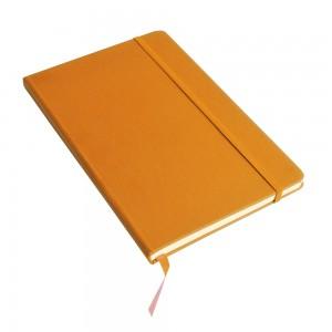 Quaderno con chiusura c/elastico e fogli a righe - carta color avorio