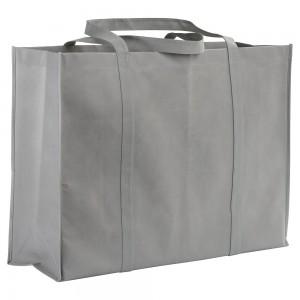 Shopper  maxi in TNT 100g cucito con manici lunghi e soffietto