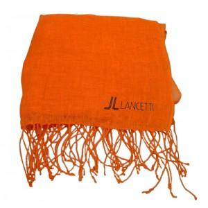 Sciarpa in lino arancio Lancetti