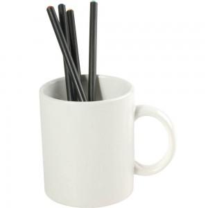 Tazza bianca in ceramica (0,32 L)