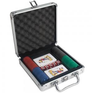 Set gioco Poker, con targhetta per personalizzazione (7 x 3 cm)