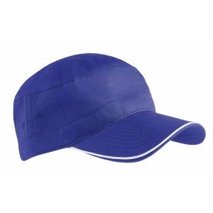 Cappellino in cotoneprofilo in contrasto,chiusura velcro