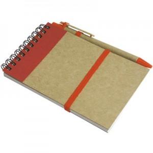 Bloc notes in carta riciclata con penna