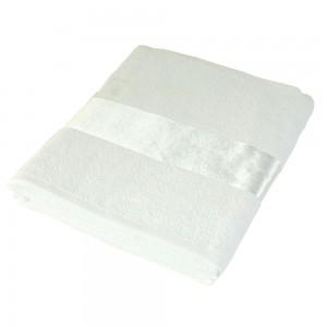 Asciugamano in cotone 350gr. con banda personalizzabile