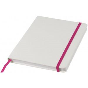 Notebook A5 Spectrum bianco con elastico colorato