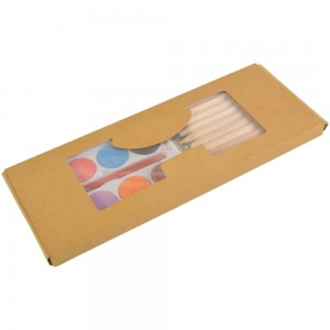 Set matite colorate (10) + acquarelli (8) in box di cartone
