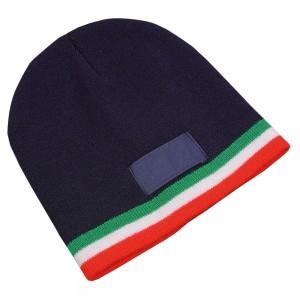 Cappellino  concert in maglina con bordo tricolore
