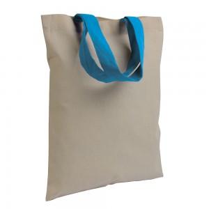 Mini Shopper in cotone naturale (135 g/m2), manici corti colorati