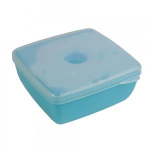 Contenitore salvafreschezza per cibo con mattonella refrigerante nel coperchio