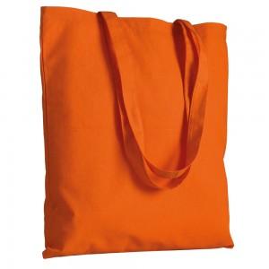 Shopper in cotone (120 g/m2), manici lunghi