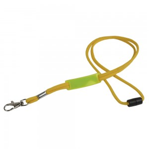 Cordino porta badge/chiavi con placchetta per personalizzazione