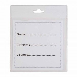 Porta-badge in plastica trasparente