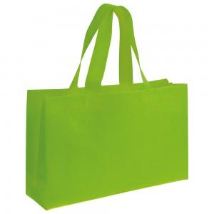 Shopper in TNT 80 gm2 con manici lunghi e soffietto alla base