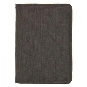 Porta carte di credito in tessuto mélange. Protezione RFID: progettato per bloccare lettori RFID dalla scansione indesiderata delle carte di credito, carte di debito, informazioni bancarie, patenti d