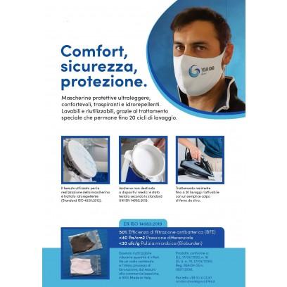 Mascherina Confort Lavabile & Personalizzabile